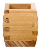 Wooden Sake Cup Royalty Free Stock Photo