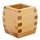 Wooden Sake Cup Stock Image