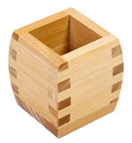 Wooden Sake Cup Stock Photo