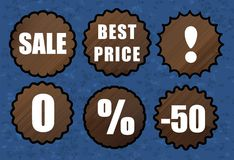 Wooden sale discount Royalty Free Stock Photo