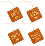Wooden sale discount tag Royalty Free Stock Images