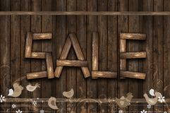 Wooden Sale Event Stock Photo