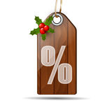 Wooden sale sign board Stock Image