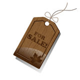 Wooden Sales Tag Royalty Free Stock Image