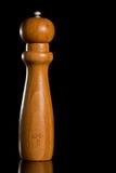 Wooden salt or pepper grinder Stock Photography