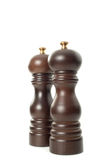 Wooden salt and pepper shakers Royalty Free Stock Image