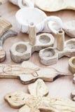 Wooden salt shaker Royalty Free Stock Images