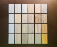 Wooden samples Royalty Free Stock Images