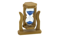 Wooden sandglass Stock Photo