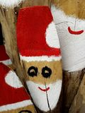 Wooden Santa Claus Royalty Free Stock Images