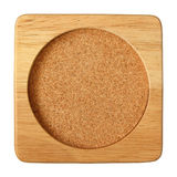 Wooden saucer background Stock Photography
