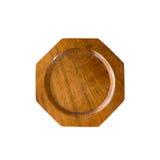 Wooden saucer Stock Photos