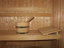 Wooden sauna Royalty Free Stock Images
