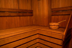 Wooden sauna Royalty Free Stock Image