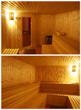 Wooden sauna Stock Photography