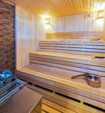 Wooden Sauna Royalty Free Stock Photography