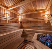 Wooden Sauna Royalty Free Stock Photos