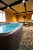 Wooden sauna Stock Images