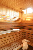 Wooden sauna in hotel Royalty Free Stock Image