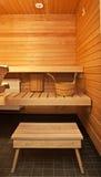 Wooden sauna Royalty Free Stock Photo