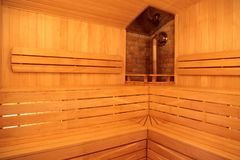 Wooden Sauna Royalty Free Stock Photo