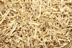Wooden sawdust and shavings. Background Stock Photo