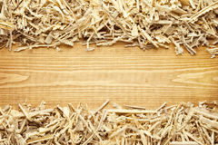 Wooden sawdust and shavings background Stock Photos