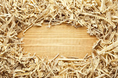Wooden sawdust and shavings background Stock Photography