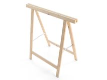 Wooden sawhorse Royalty Free Stock Photo