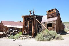 Wooden sawmill, Bodie ghost town Royalty Free Stock Photo