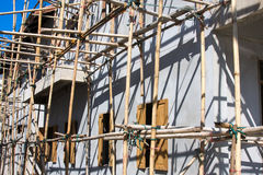 Wooden scaffolding Royalty Free Stock Image