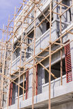 Wooden scaffolding for construction site Royalty Free Stock Image