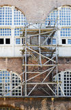 Wooden scaffolding Istanbul Turkey Royalty Free Stock Photos