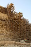 Wooden scaffolding Royalty Free Stock Images