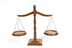 Wooden Scales 2 Royalty Free Stock Image