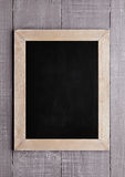 Wooden school blackboard for chalk writing on wood Royalty Free Stock Photography