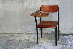Wooden school chair Stock Photography