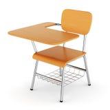 Wooden school desk Stock Image