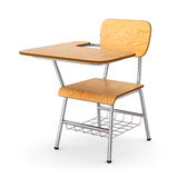Wooden school desk Royalty Free Stock Photo