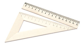 Wooden school rulers set Royalty Free Stock Photography