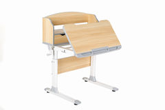 Wooden school table Royalty Free Stock Photo