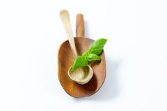 Wooden scoop and spoon Stock Photos