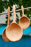 Wooden scoops Stock Photos