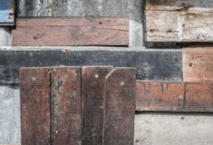 Wooden scrap plank texture background Royalty Free Stock Images