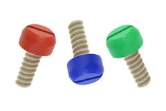 Wooden Screw Royalty Free Stock Photography
