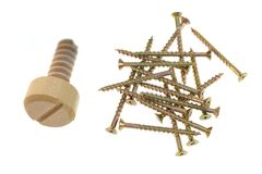 Wooden Screw Royalty Free Stock Photo