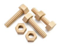 Wooden Screw Royalty Free Stock Images