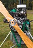 Wooden screw motor glider Stock Image