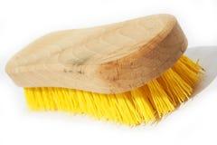 Wooden scrub brush Royalty Free Stock Images