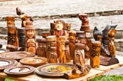 Wooden sculpture Stock Photography